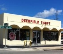 Deerfield Thrift Front Corner CROP St Sign